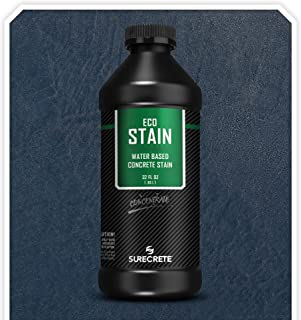 Surecrete EcoStain Water-Based Concrete Stain - 32 Ounce Concentrate (Titanium Gray)