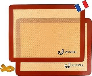 JAYS STORA Tapis de Cuisson Silicone Prémium (X2). Feuilles de Cuisson 30 x 40 cm antiadhérentes et réutilisables. Tapis d...