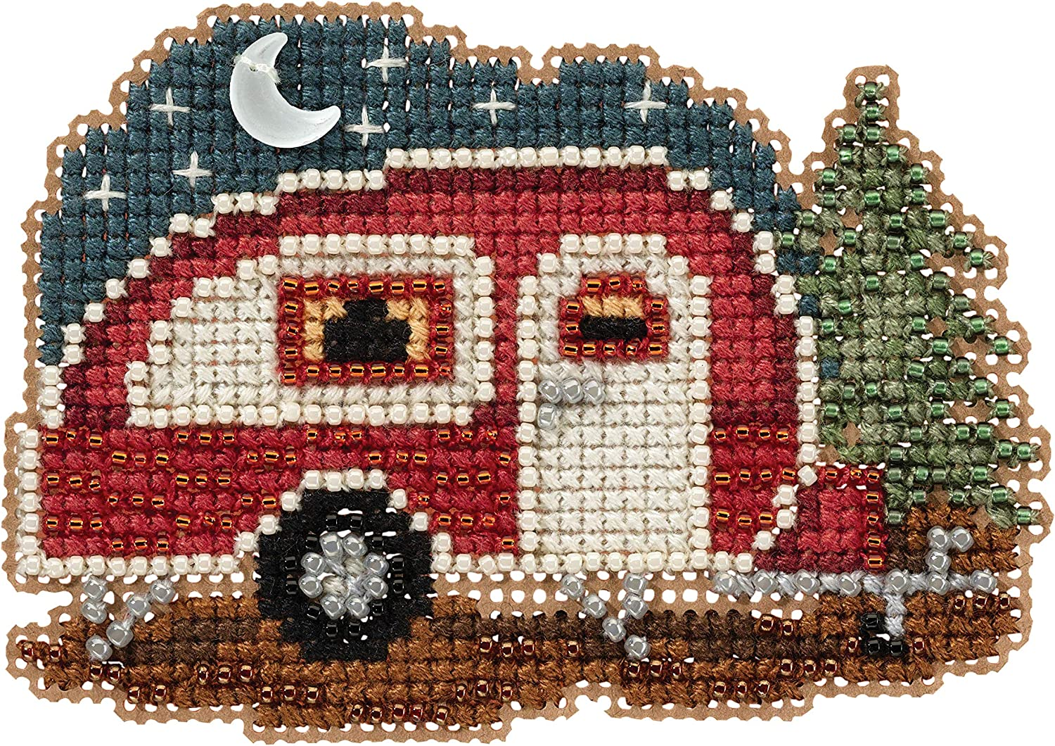 Happy Camper Beaded Counted Our shop most popular cheap Cross Ornament Kit Stitch Hill Mill