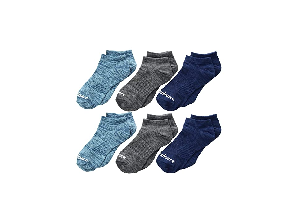 New Balance Flat Knit No Show 6-Pair (Toddler/Little Kid/Big Kid) (Pigment/Moroccan Tile/Blue Fog/Phantom) No Show Socks Shoes