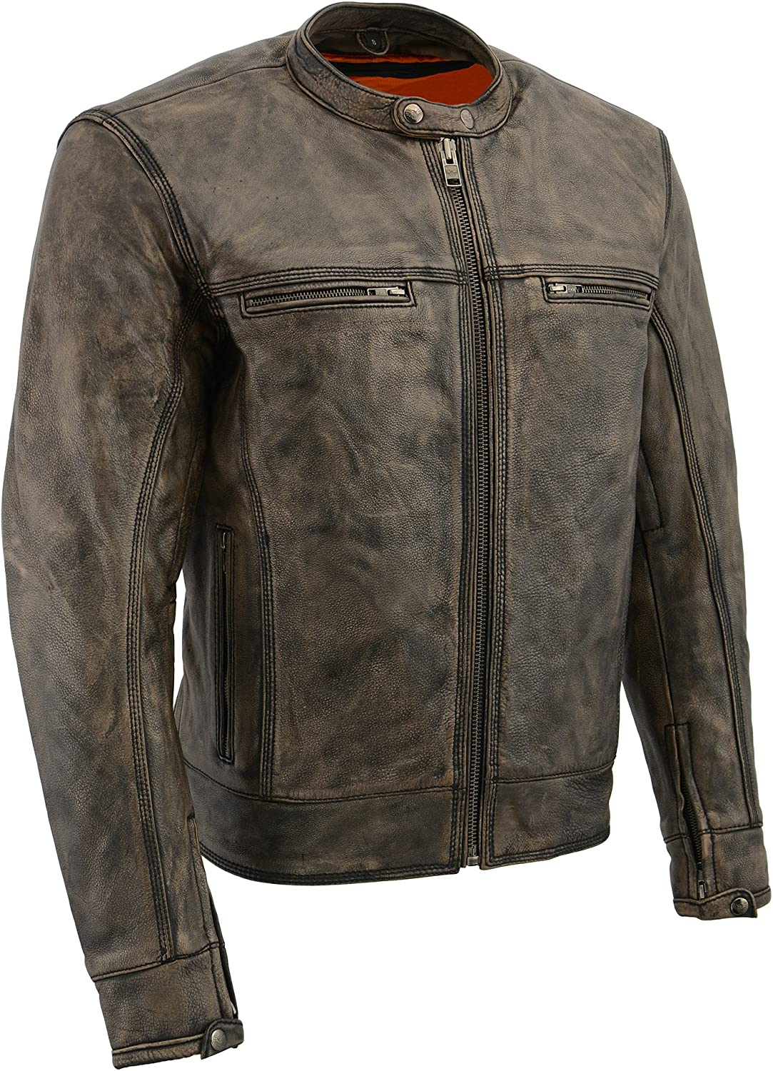 Milwaukee Leather Men's Vented Scooter Jacket