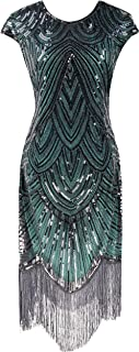 Women's Flapper Dresses 1920s Beaded Fringed Great Gatsby Dress