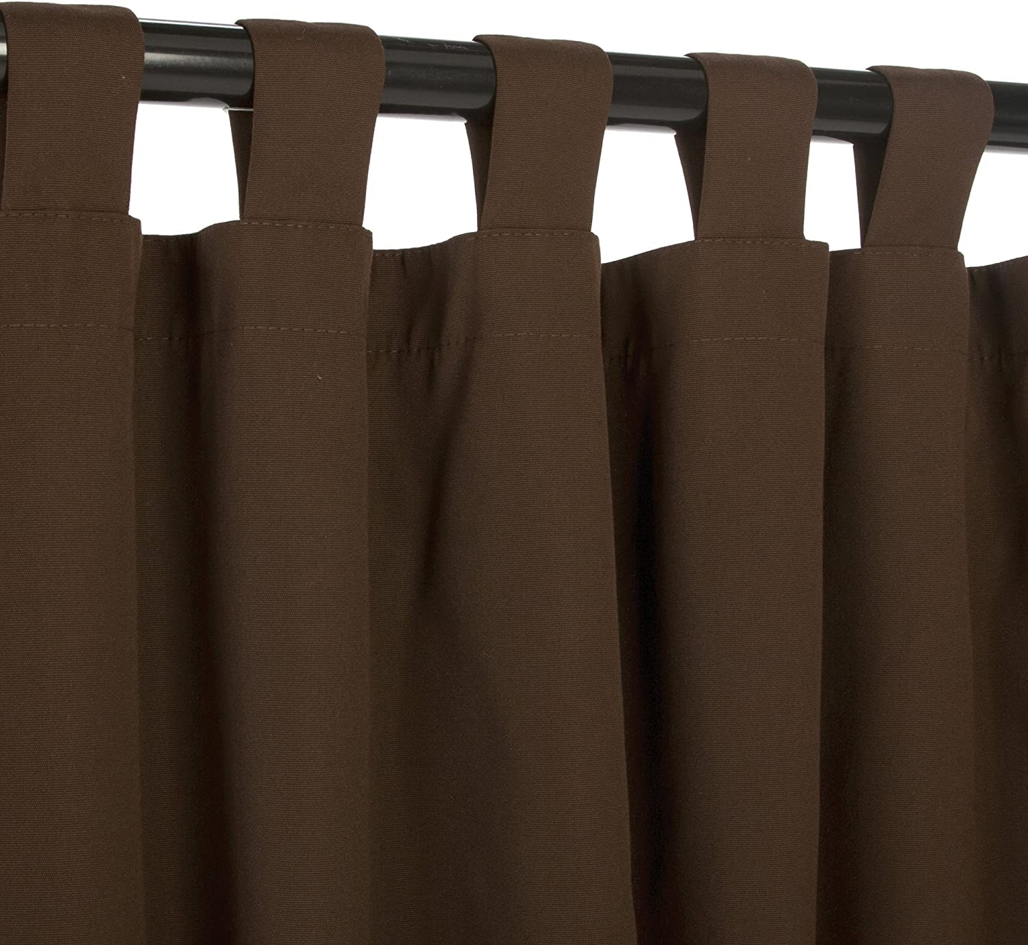 Tab Top and More Pergola Sunbrella Outdoor Curtain Panel 50 by 84 Inch Gazebo Bay Brown and Sizes Includes Custom Storage Bag; Perfect for Your Patio Porch