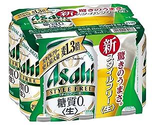 アサヒ スタイルフリー <生> 缶 350ml×6缶