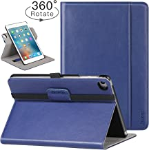 Ztotop iPad Mini 4 Swivel Case, [360 Rotating] Genuine Leather Folio Stand Case Cover with Multi-Angle Viewing, Pocket, Auto Wake/Sleep for iPad Mini 4 - Navy Blue