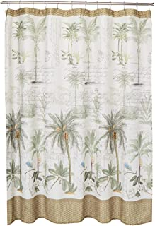 """Avanti Linens Colony Palm72"""" x 72"""" Shower CurtainIvory, Green and Brown"""