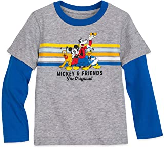 Disney Mickey Mouse and Friends Long Sleeve Layered T-Shirt for Boys