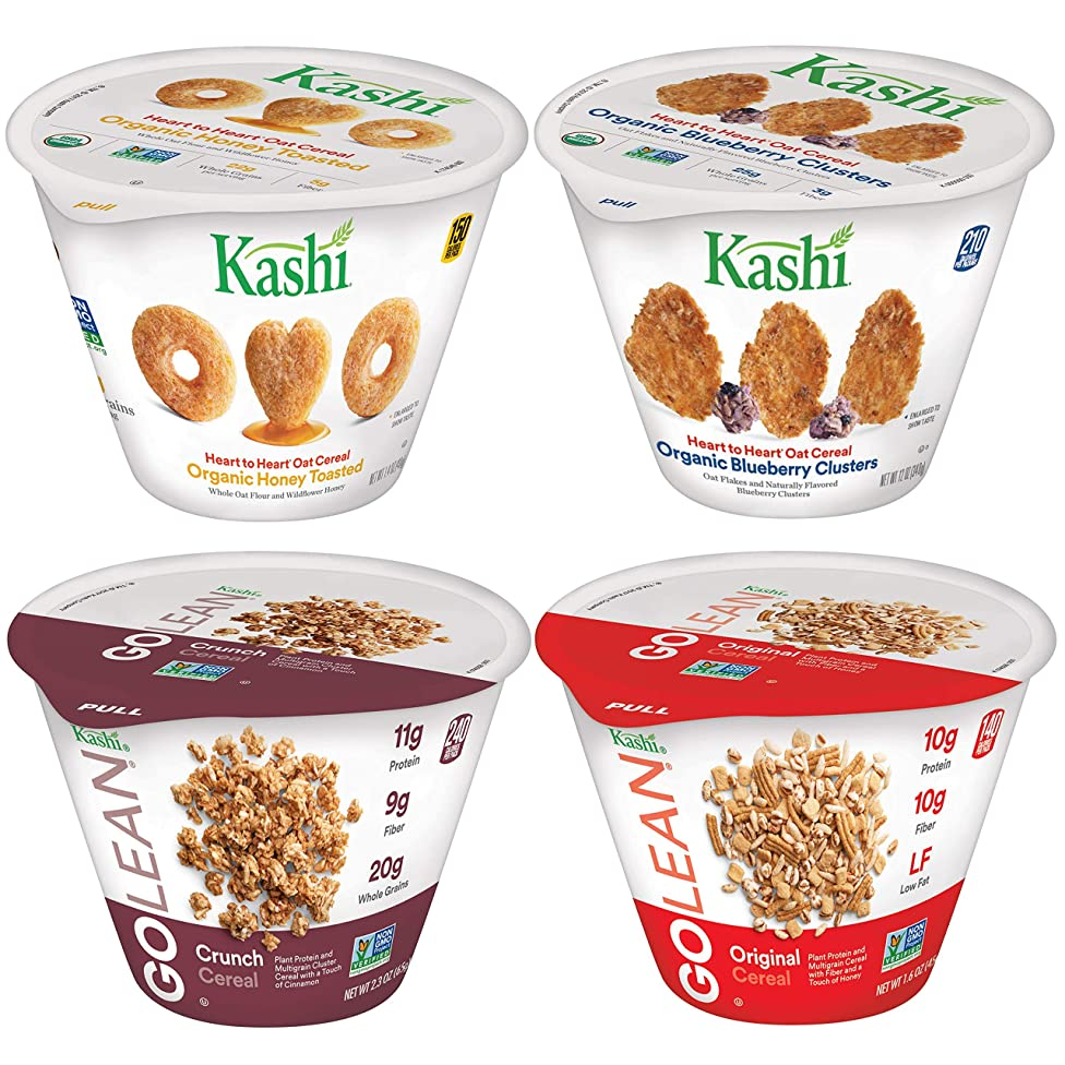 Kashi Breakfast Cereal in a Cup, Assortment Pack, Bulk Size (Pack of 36 Cups)