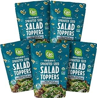 Go Raw Pumpkin & Sunflower Seed Mix, Sea Salt & Cracked Pepper Salad Topper, 4 oz. Bags (Pack of 5) — Keto   Vegan   Gluten Free   Organic