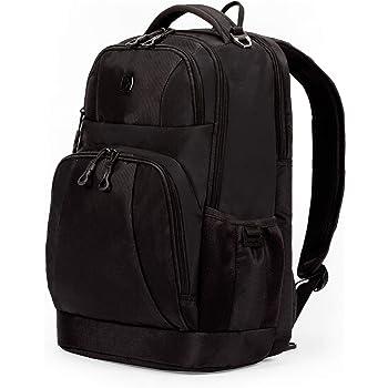 SWISSGEAR Large Padded 15-inch Laptop Backpack   Work, School, Commute   Men's and Women's - Black