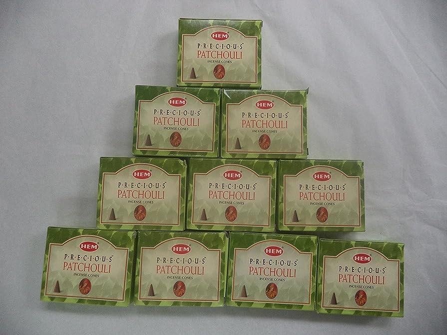 キネマティクス過ち出会いHEM Incense Cones: Precious Patchouli - 10 Packs of 10 = 100 Cones by Hem