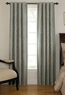 Beautyrest 11239042X108GRE Chenille 42-Inch by 108-Inch Rod Pocket Single Window Curtain Panel, Grey