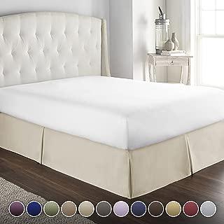Best natural linen queen bed skirt Reviews