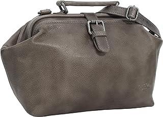 Gusti Umhängetasche Leder - Lillith Vintage Ledertasche Handtasche Arzttasche Grau Leder