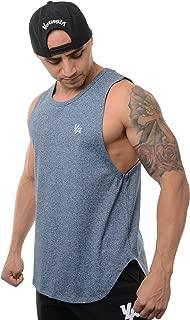 Tank Tops Men Workout Muscle Gym Bodybuilding Long Shirts 309