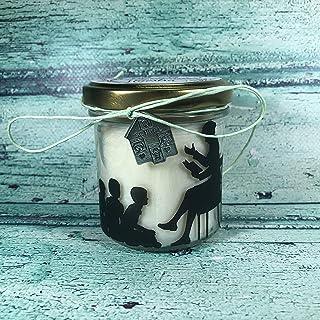 Grazie Maestra Vasetto con candela con silhouette, aroma a scelta – ciondolo decorativo a scelta - regalo per la Maestra F...