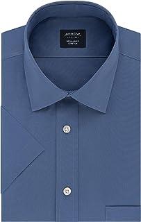 ARROW Men's Short Sleeve Dress Shirt Regular Fit Stretch Solid Dress Shirt