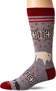 Pendleton Men's Camp Crew Socks, San Miguel Grey, Large (Fits Men's 9-12/ Women's 10-13)