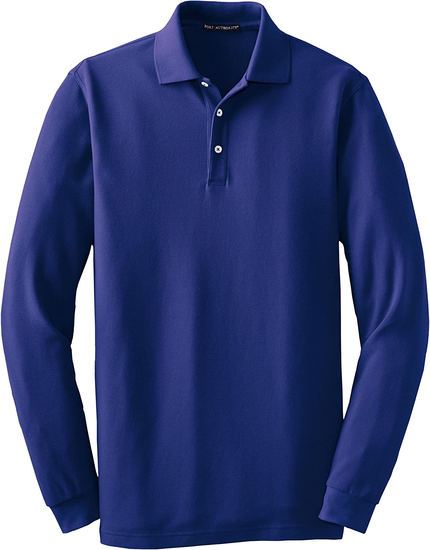 Port Authority Men's Long Sleeve EZCotton Pique Polo
