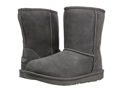 UGG Kids Classic II (Little Kid/Big Kid) (Grey) Kids Shoes