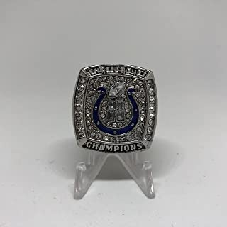 2006 Peyton Manning Indianapolis Colts High Quality Replica 2006 Super Bowl XLI Championship Ring Size 12.5-Silver Colored