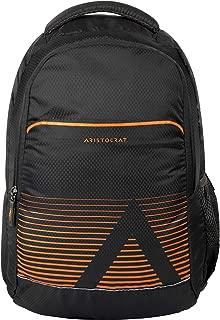 Aristocrat Neo 27 Ltrs Polyester Laptop Backpack … (Dark Grey)