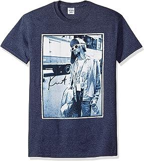 FEA Men's Kurt Cobain Standing by Bus Photo T-Shirt