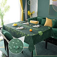 Hosonson St. Patrick's Day Rectangle Table Cloth 52x70 inch - Shamrocks Decoration Holiday Tablecloth - Reusable Wipable W...