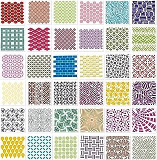 45 Pièces Pochoirs Géométriques Modèles Pochoirs d'Art de Peinture Pochoirs de Dessin de Traçage Gabarit Géométrique pour ...