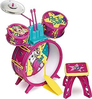 Bateria Infantil Fabulosa Barbie Rosa