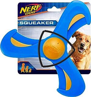 """Nerf Dog 3539 9"""" TPR/Foam Tri-flyer, Pet Squeak Toy"""