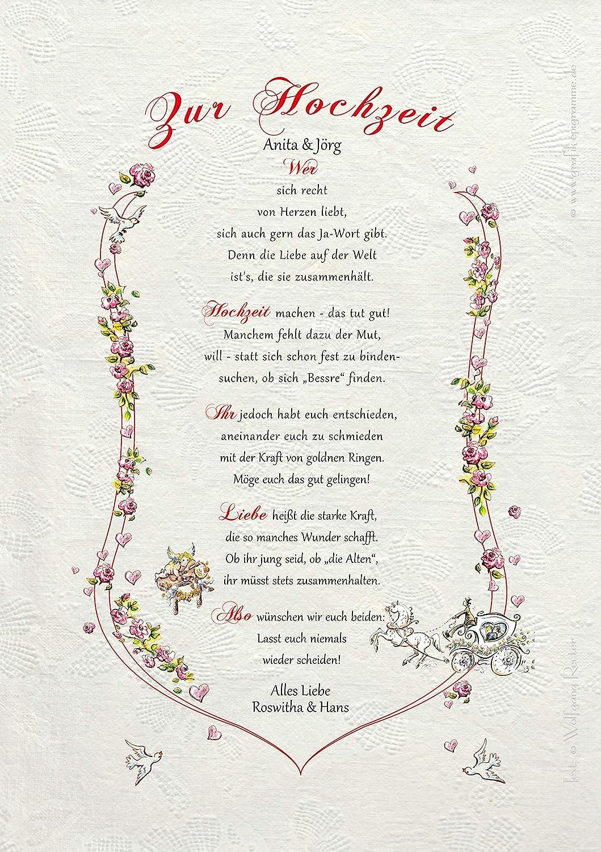 Hochzeit zur gedicht und brot salz Brot und