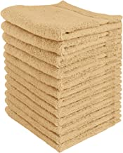 Utopia Towels Luxury Cotton Washcloth Towel Set (12 Pack, Champagne, 12x12 Inches) Multi-Purpose Extra Soft Fingertip Towe...