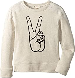 Appaman Kids - Contra Sweatshirt - Peace (Toddler/Little Kids/Big Kids)
