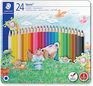 Staedtler Noris Club 145 Cm24 Colouring Pencils In Castle Design Tin - Assorted Colours (Pack Of 24)