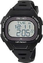 [セイコーウォッチ] 腕時計 プロスペックス Super Runners ソーラー 薄型ランナーズ デジタル ソフトポリウレタンバンド SBEF055 ブラック