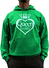 Nutees Unisex Queen Of Fucking Everything Biker Rock Music Funny Hoodie