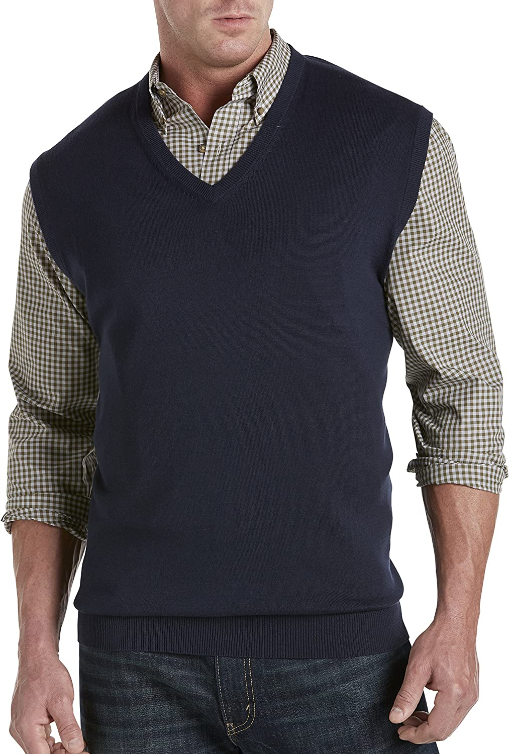 Harbor Kansas City Mall Bay by DXL Big and Tall Max 59% OFF Vest Sweater V-Neck
