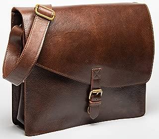 HIDES Full Grain Leather Laptop Messenger Bag Shoulder Crossbody Travel Satchel