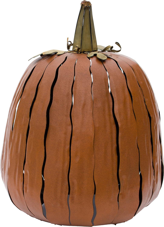 Desert Steel Great Pumpkin Lantern – Halloween Pumpkin – Garden Decor (12-inch)