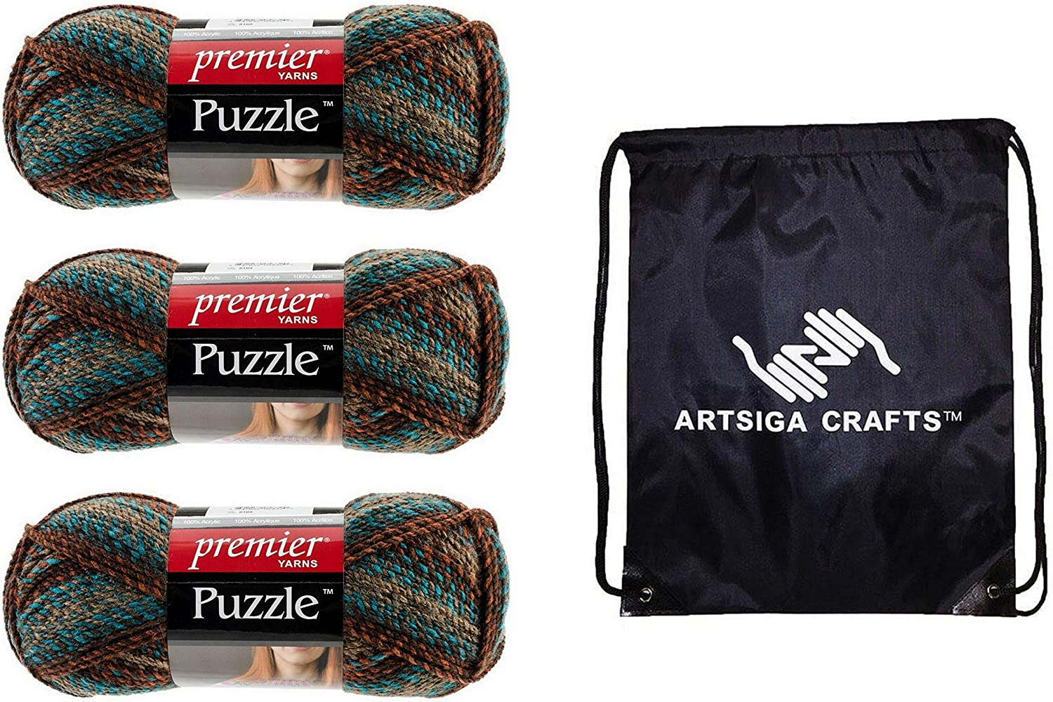 Max 55% OFF Premier Yarns Puzzle Anagram Daily bargain sale 1050-04 Colors Alternating U for 4