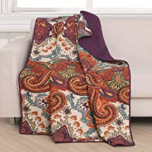 Greenland Home Nirvana Throw Blanket, 50 Inches x 60 Inches, Spice