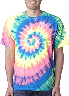 69 Tie-Dye Adult Neon Pigment-Dyed Spiral Tee