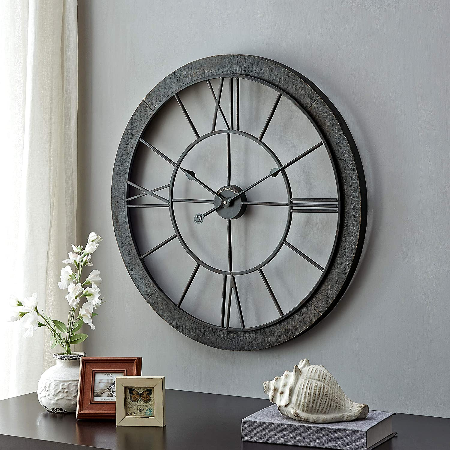 FirsTime Co. Store Black Timeworn American OFFicial shop Cottage Farmhouse Clock
