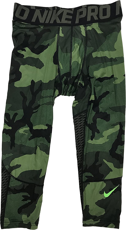 Nike Pro Hypercool 3 4 Camo Compression Pants 848863 325 Small