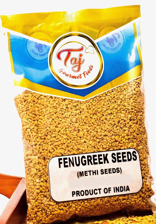 TAJ Premium Indian Methi Seeds, Fenugreek Seeds, Trigonella foenum graecum, (7 Ounce)