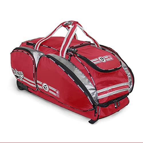 NO Errors NO E2 Catchers Bag with Fatboy Wheels - Wheeled Baseball Equipment Gear & Helmet Bags