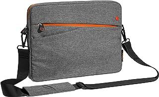 Pedea Tablet PC Tasche Fashion für 12,9 Zoll (32,8 cm) Tablet Schutzhülle mit Zubehörfach und Schultergurt, grau/orange