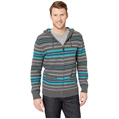 Pendleton Serape Stripe Hooded Sweater (Blue/Grey Stripe) Men
