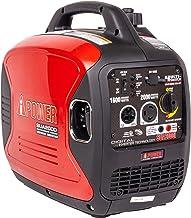 A-iPower SUA2000iV 2000-Watt Portable Inverter Generator, Red